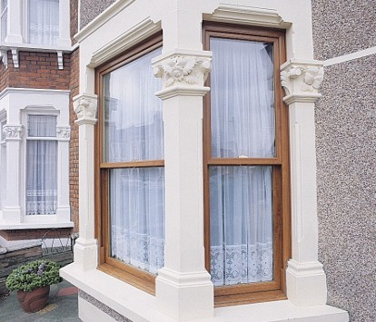 Bay Window with pillars side view