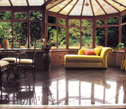 Bespoke Conservatory with marble floor