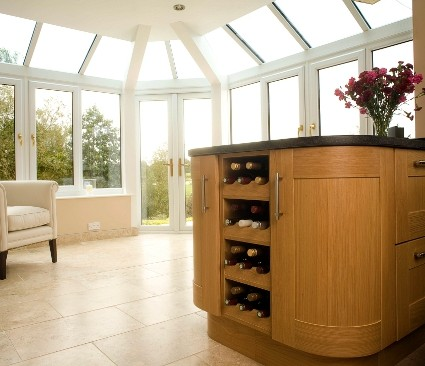 Bespoke Conservatory with bar inside