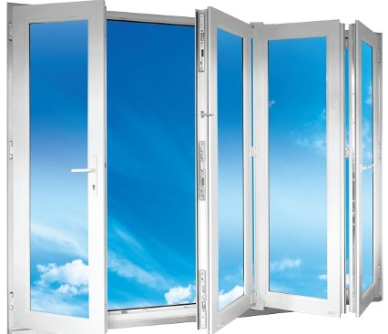 Bi-Folding door with sky background