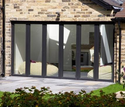 black Bi-Folding door