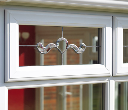 Casement Window with bevel glazing close up