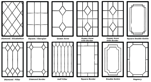 Decorative leaded glazing designs willow windows for Double glazing designs