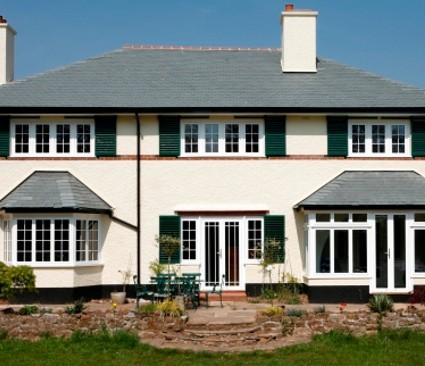 Double Glazing uPVC windows on house