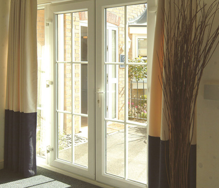 French Door interior view