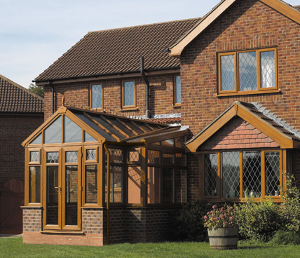 Gable Conservatory with house in view