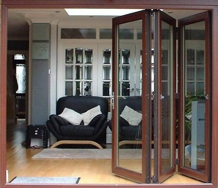 Bi-Folding door three quarters open