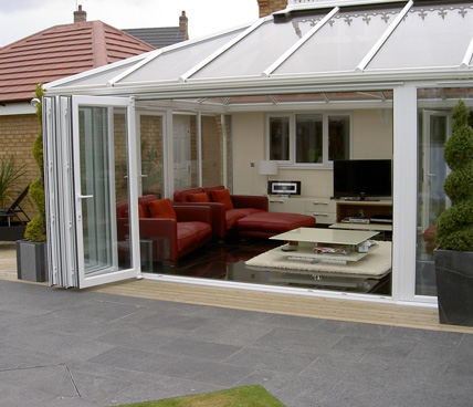 Bi-Folding door on conservatory