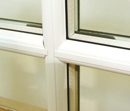Double Glazed window close up
