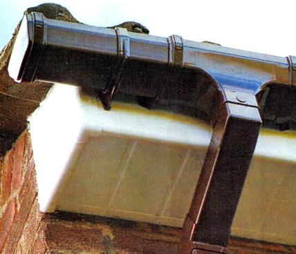 Guttering close up underside