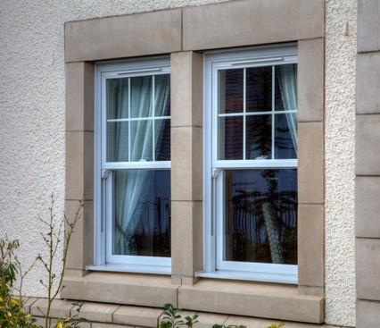 Vertical Sliding Windows side view