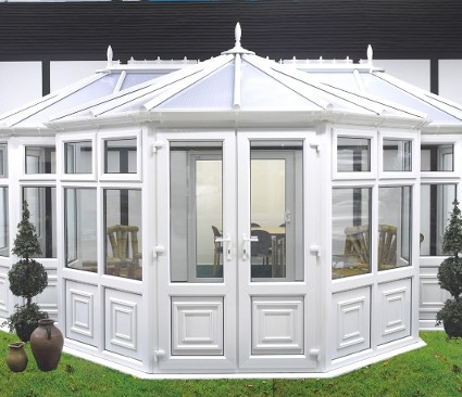 White Victorian Conservatory front view