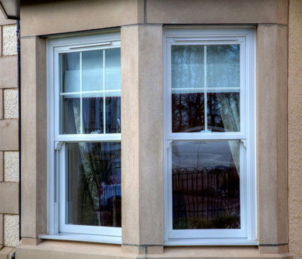 White Vertical Sliding Windows